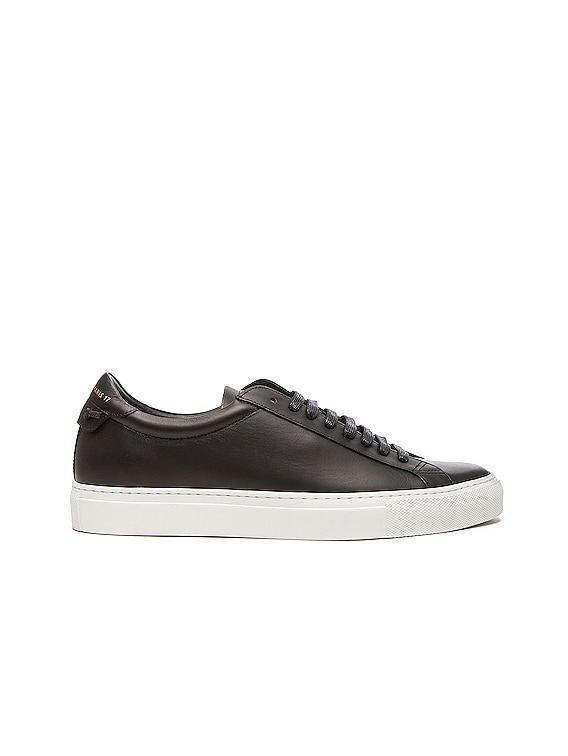 Knots Low Top Leather Sneakers in Black