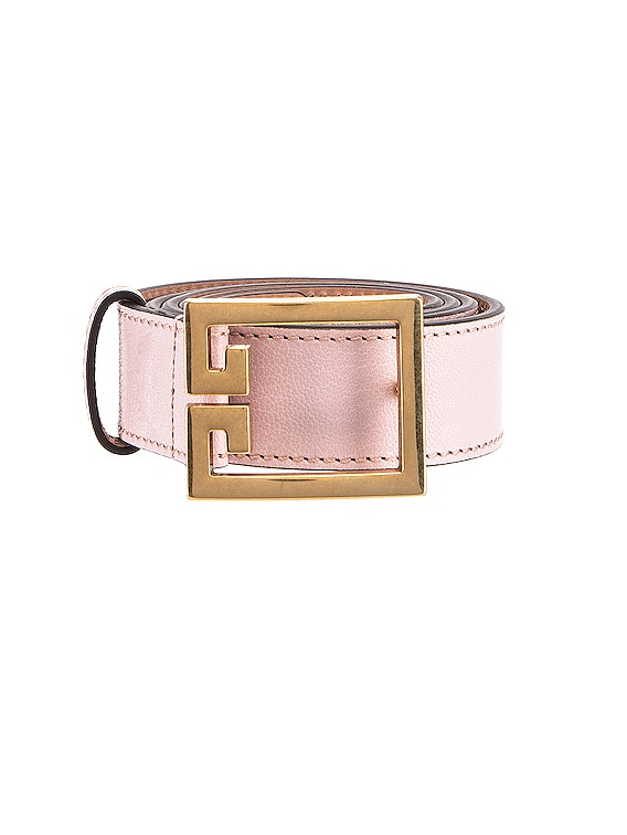 GV3 Leather Buckle Belt in Pink