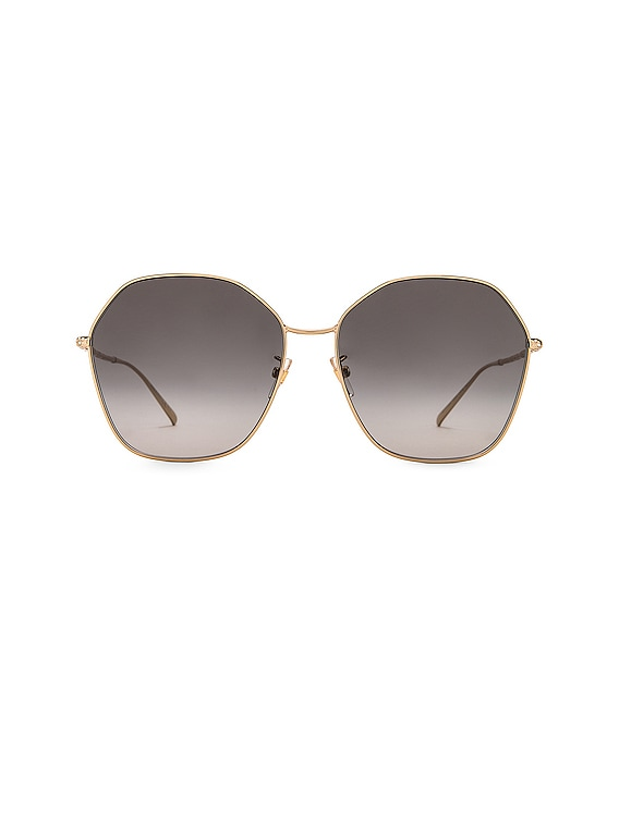 Hexagon Sunglasses in Gold & Dark Grey