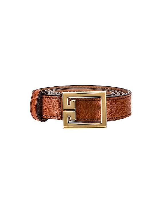 Gv3 Buckle Belt in Chestnut