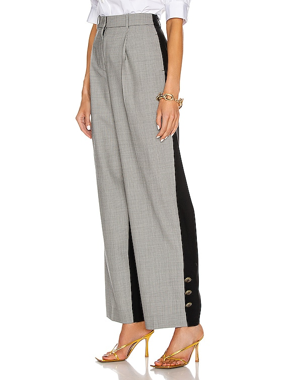 Button Bicolor Large Pant in Black & White