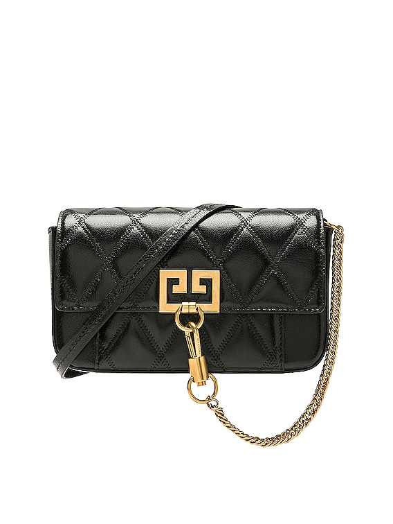 Mini Pocket Chain Bag in Black