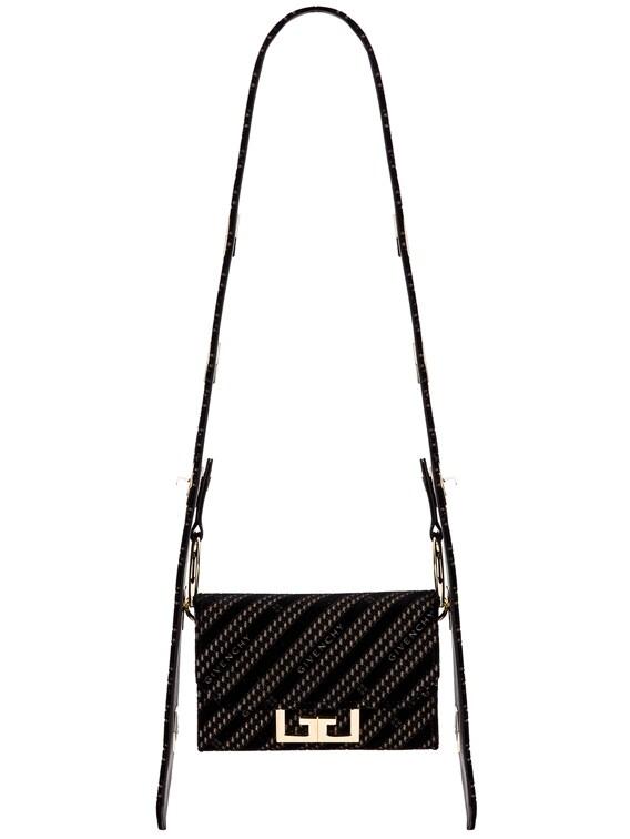 Nano Eden Lasered Velvet Bag in Black