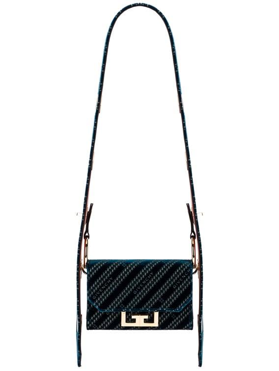 Nano Eden Lasered Velvet Bag in Oil Blue