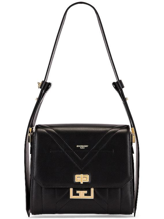 Medium Eden Leather Bag in Black