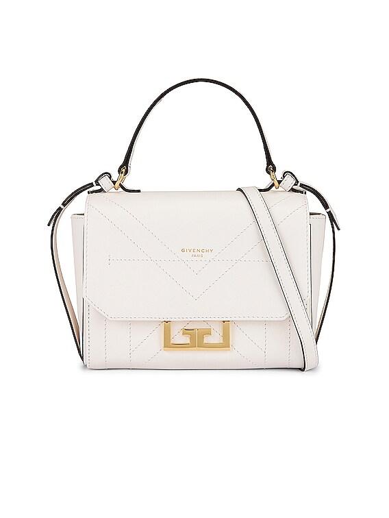 Mini Eden Leather Bag in White