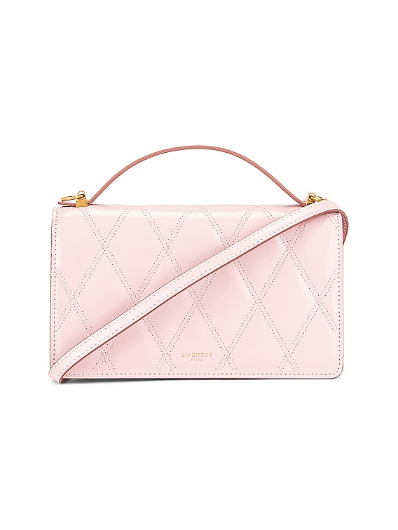GV3 Quilted Leather Strap Wallet Bag in Pink