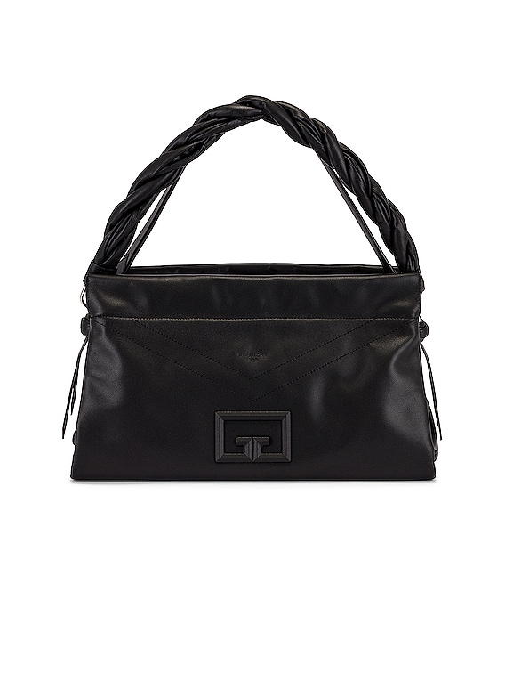 Large ID 93 Twisted Strap Zip Bag in Black