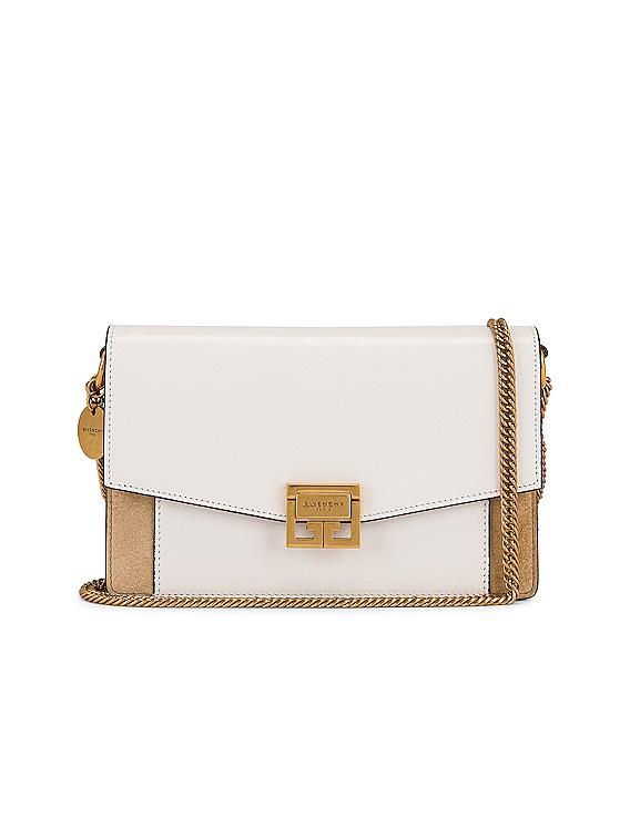 GV3 Wallet on Chain Bag in White & Beige