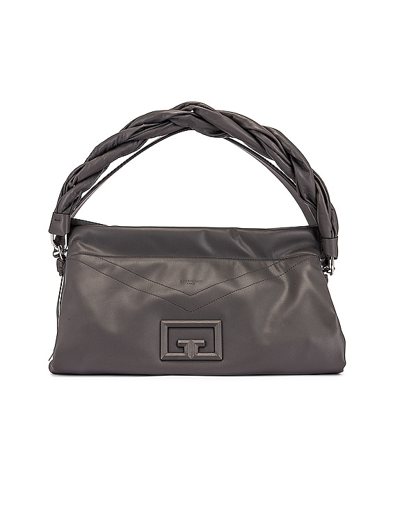 Large ID 93 Twisted Strap Zip Bag in Storm Grey