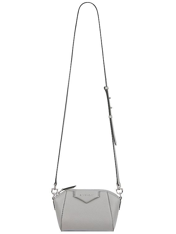 Nano Antigona Bag in Pearl Grey