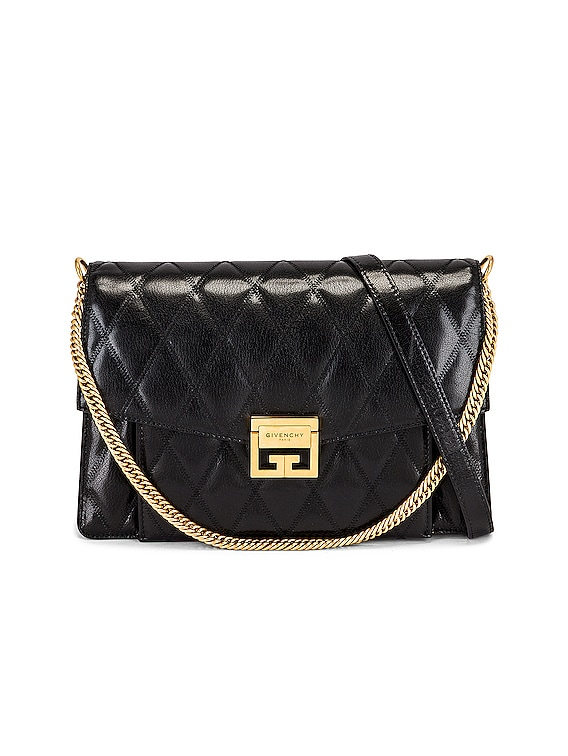 Medium GV3 Quilted Leather in Black