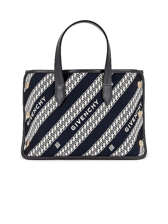 Mini Bond Shopping Bag in Oil Blue