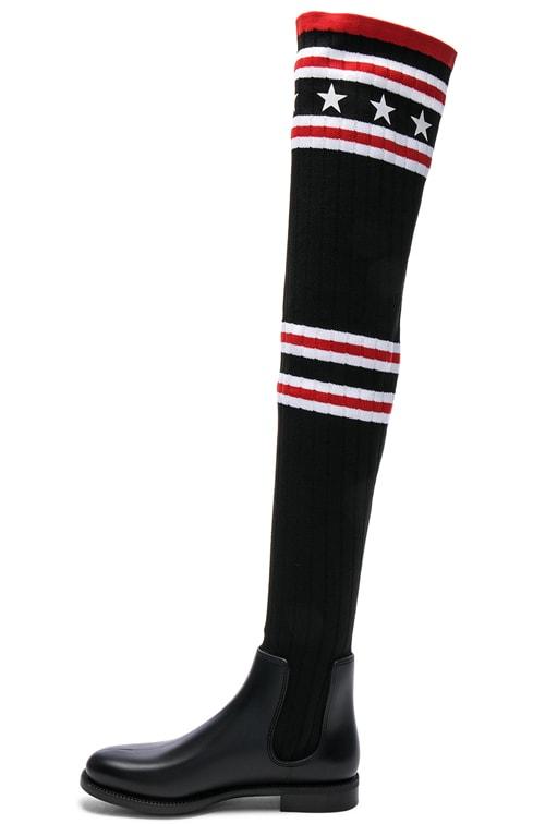Givenchy Rib Knit Over The Knee Sock