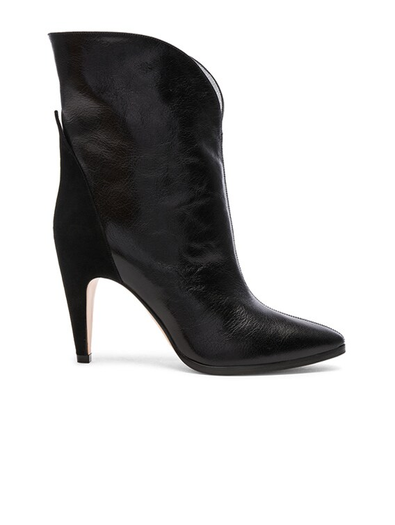 Leather & Suede GV3 Mid Calf Boots in Black