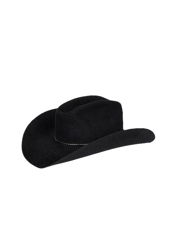 Levi Felt Velour Hat in Black