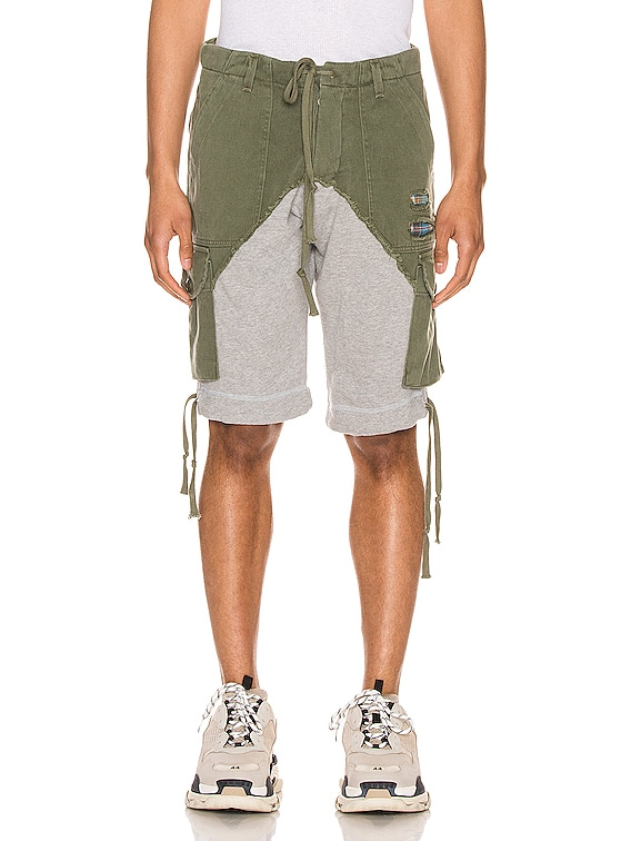 Cargo Shorts in Army & Grey