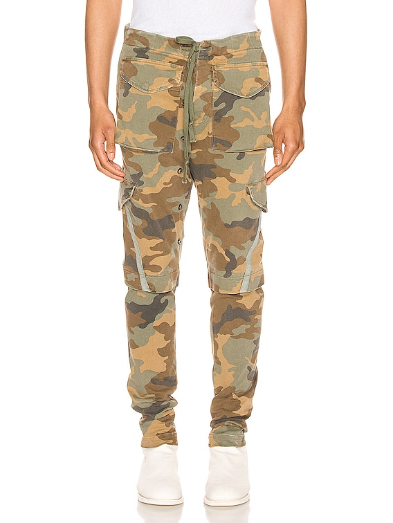 Stretch Cargo Pants in Camo