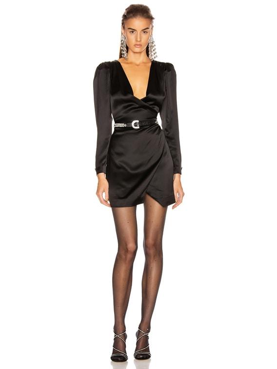 Nik Shirt Dress in Black