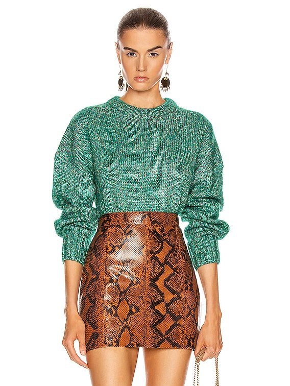 Rosalie Sweater in Marled Green