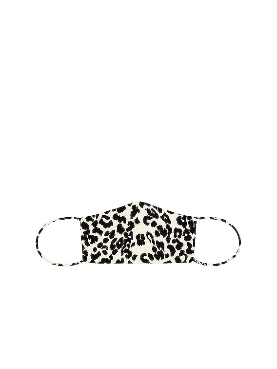Face Mask in Ivory Leopard