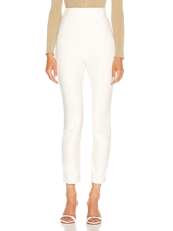 Power Hi Waist Cigarette Pant in White