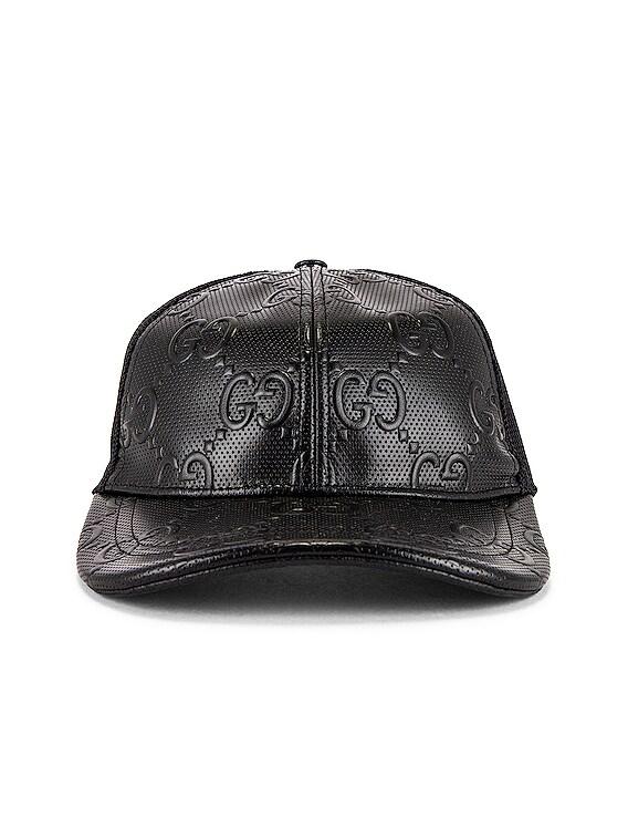 Baseball Cap in Black & Black