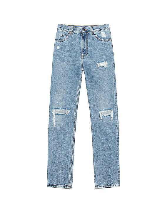 Distressed Jean in Light Blue