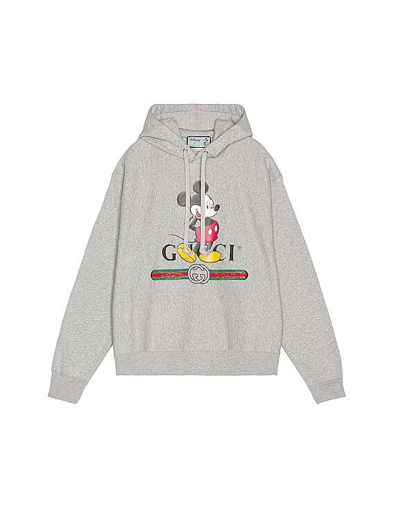 Mickey Hoodie in Medium Grey & MC