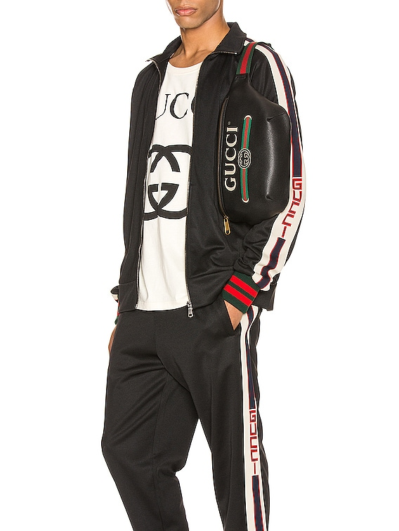 Technical Jersey Jacket in Black & Ivory & Live Red