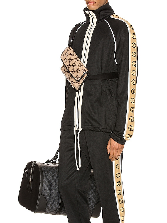 Oversize Technical Jersey Jacket in Black & Multi