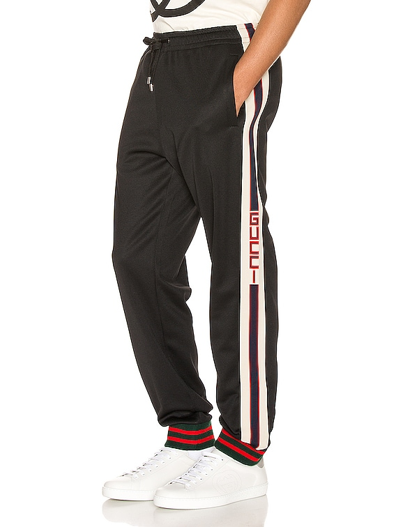 Technical Jersey Pant in Black & Ivory & Live Red