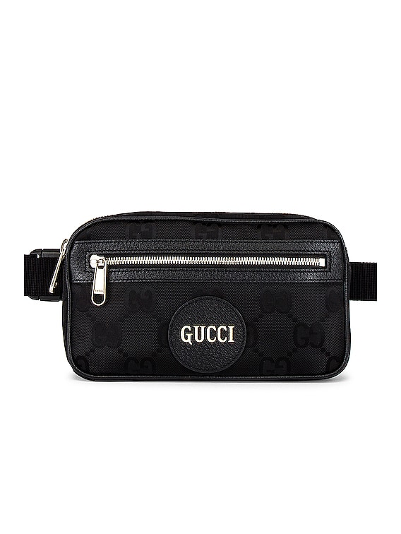 Nylon GG Crossbody Bag in Black