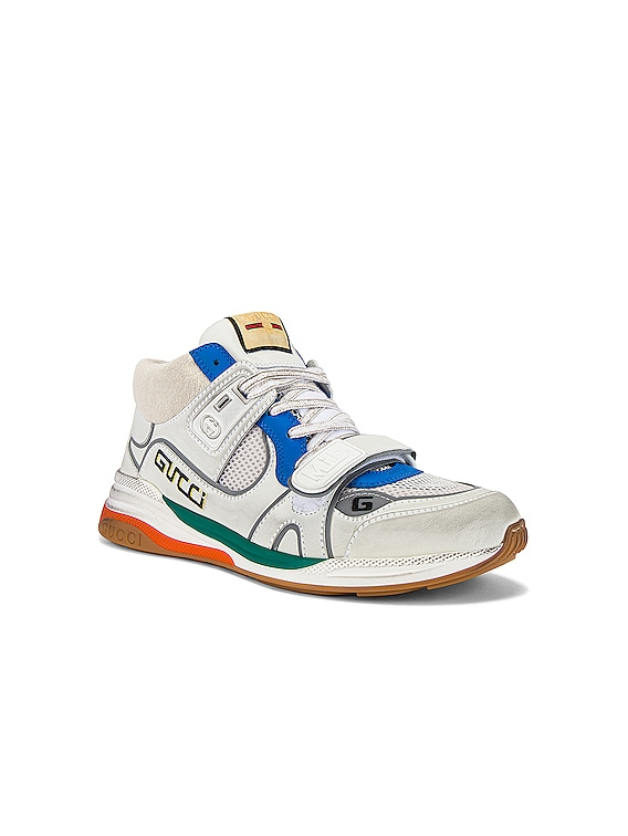 G Line Mid Low Top Sneaker in Blue & Silver & White