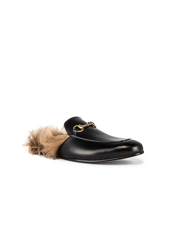 Betis Glamour Mule in Black & Natural