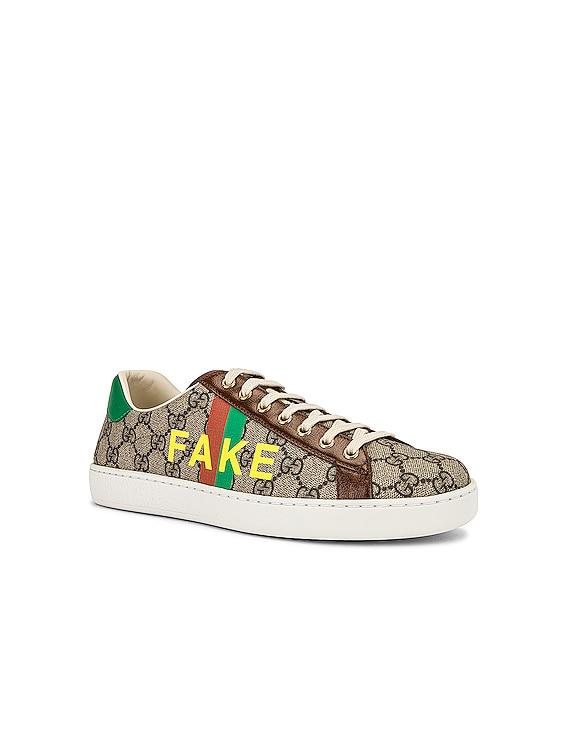 GG Supreme Sneaker in Beige & Green & Red & Brown
