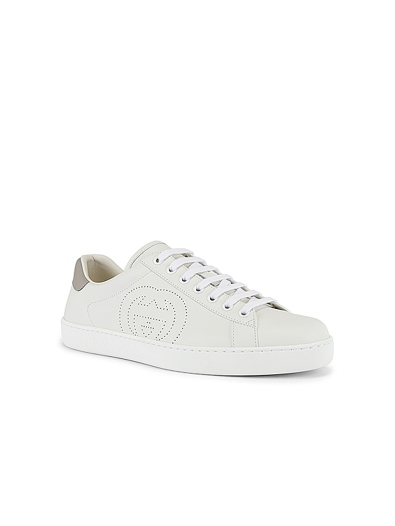 New Ace Sneaker in White & Grey