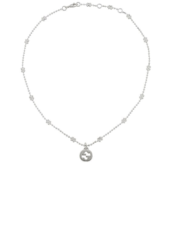 Interlocking G Pendant Necklace in Sterling Silver