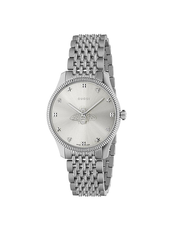 G Timeless Slim 36mm Watch in Steel