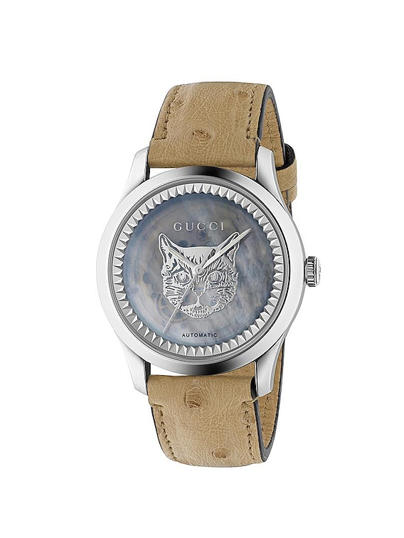 G Timeless Automatic 38mm Watch in Ostrich