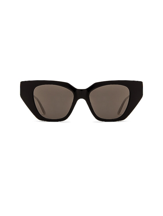 Acetate Cat Eye Sunglasses in Shiny Black