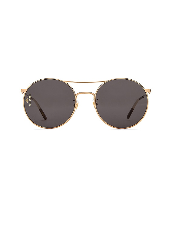 Metal Round Sunglasses in Shiny Endura Gold