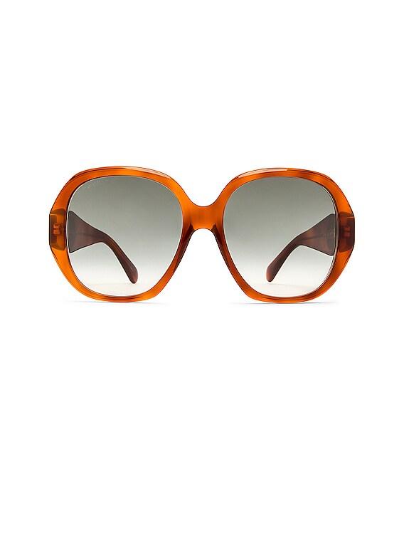 Oversize Octagonal Sunglasses in Havana