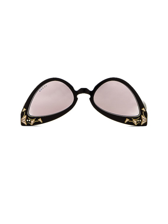 Upside Down Cat Eye Sunglasses in Black