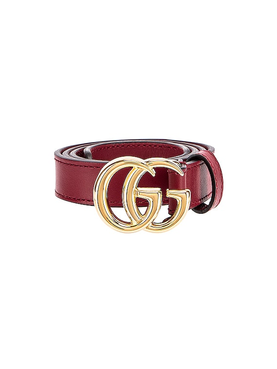 GG Marmont Belt in New Cherry Red