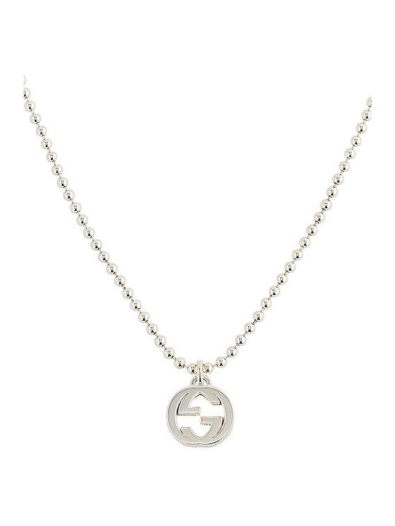 Interlocking Necklace in Silver