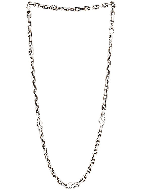 GG Long Necklace in Silver