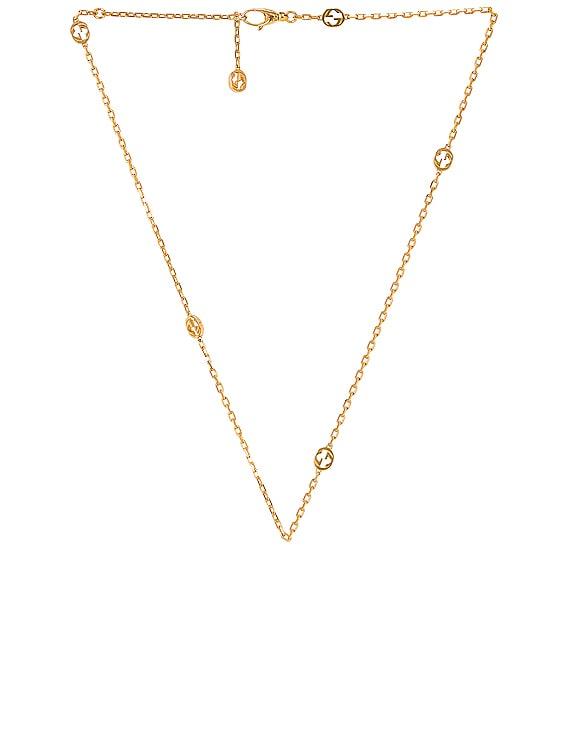 Interlocking G Necklace in Gold