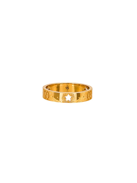 Icon Star Ring in Yellow Gold