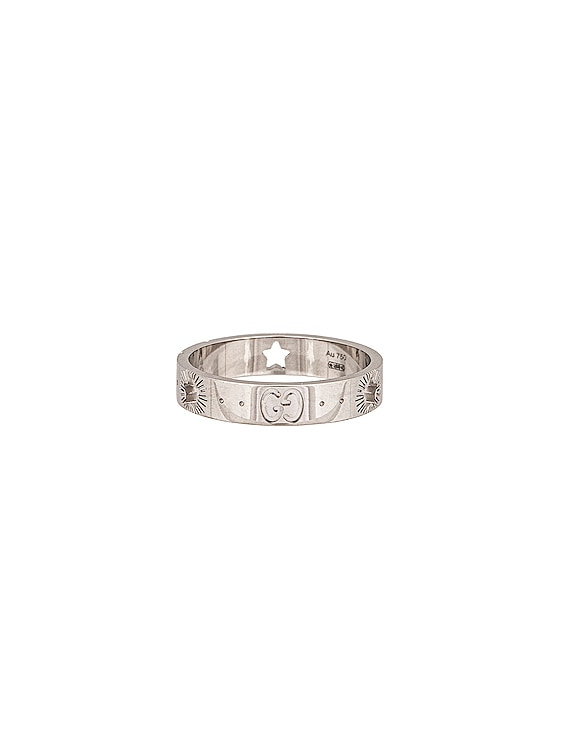 Icon Star Ring in White Gold